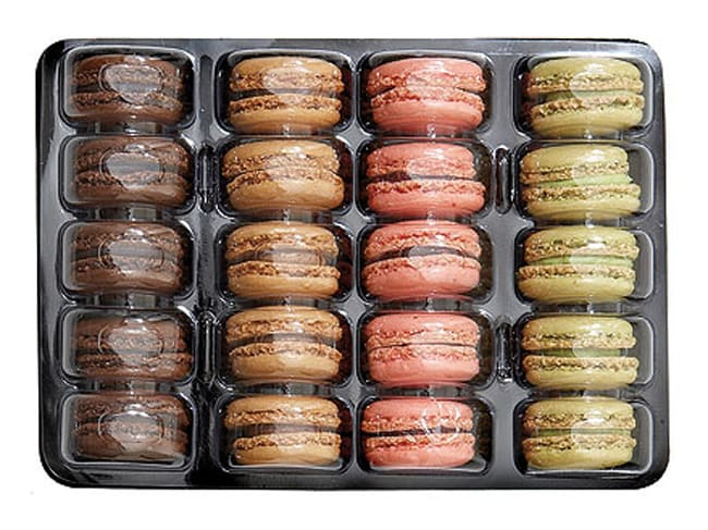 Tray Inserts + Lids for 20 Macarons (x 100)