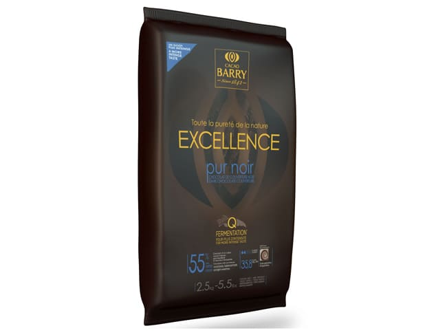 Excellence Dark Chocolate Couverture Block 2.5kg (55% cocoa) - Cacao Barry