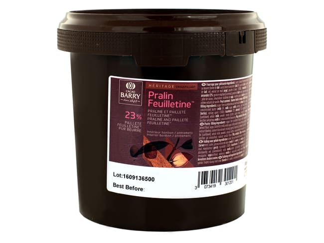 Pralin Feuilletine Praline Paste with Flakes - 1kg - Cacao Barry