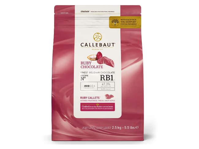 Ruby Pink Chocolate - 47.3% cocoa - 2.5kg - Callebaut