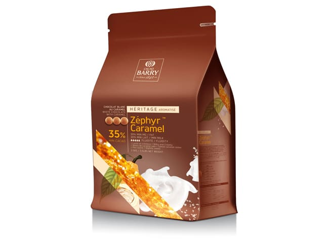 Zéphyr Caramel White Chocolate Couverture Pistoles - 35% cocoa - 2.5kg - Cacao Barry