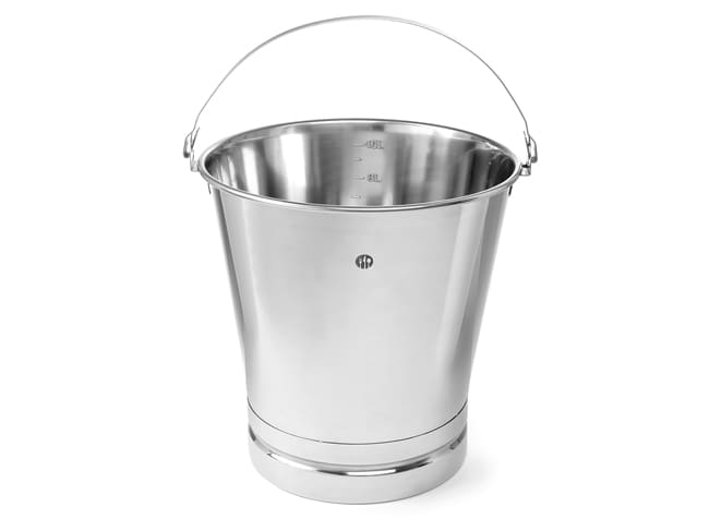 Stainless Steel Graduated Bucket - Reinforced Base - 7 litres - Hendi
