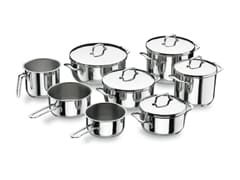 8-Piece Gourmet Stainless Steel Cookware Set - Lacor