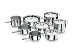 8-Piece Professional Stainless Steel Cookware Set - Lacor