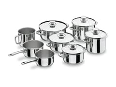 8-Piece Vitrocor Stainless Steel Cookware Set - Lacor