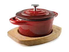 Red Cast Iron Mini Casserole Ø 10cm