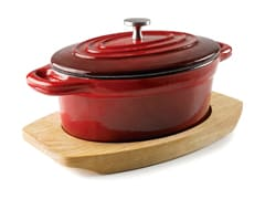 Red Cast Iron Oval Mini Casserole