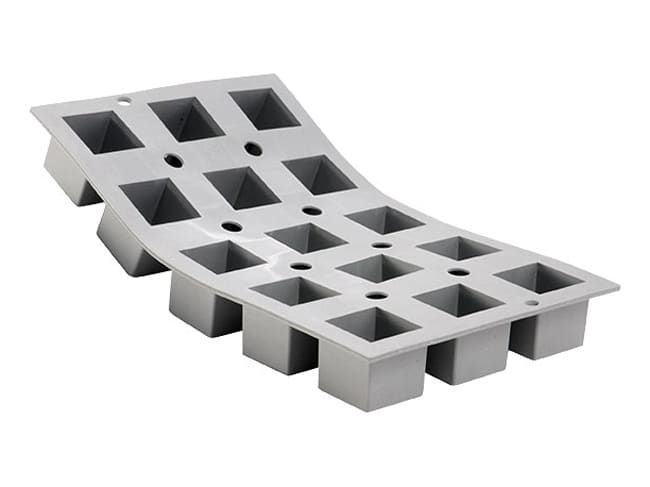 Elastomoule Silicone Mould - 15 Cubes - 30 x 17.6cm - De Buyer