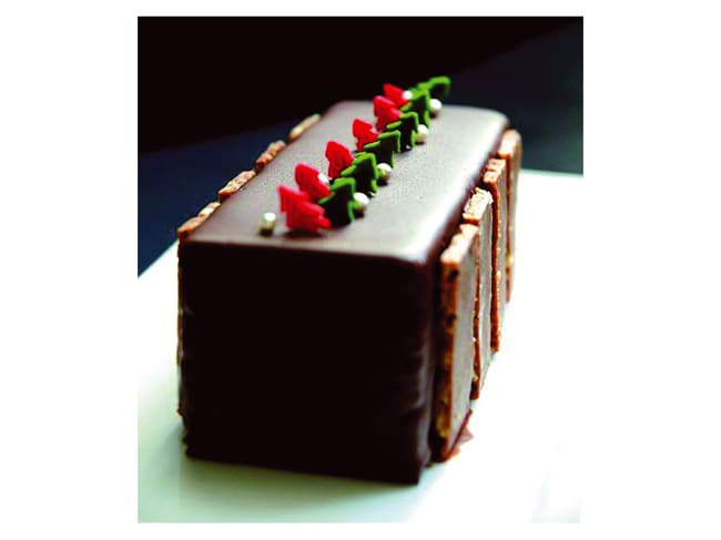 Professional Silicone Mould - 4 Square Yule Logs - 60 x 40cm - Pavoni