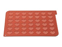 Slicone Baking Sheet for 42 Heart-Shaped Macarons