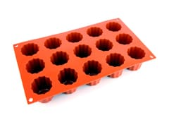 Flexible Silicone Mould - Cannelés (15 cavities)