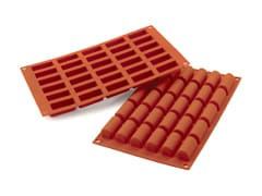 Flexible Silicone Mould - 30 Mini Yule Logs