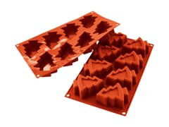 Flexible Silicone Mould - 8 Christmas Trees