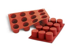Flexible Silicone Mould - Cylinders (12 cavities)