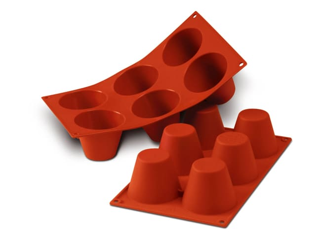Flexible Silicone Mould - Large Babas (6 cavities) - Silikomart