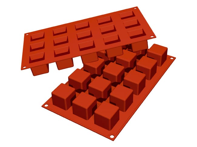 Flexible Silicone Mould - Mini Cubes (15 cavities) - Silikomart