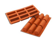 9 Mini Log Silicone Mould