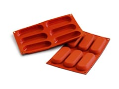 Flexible Silicone Mould - Oval Rectangles (6 cavities)
