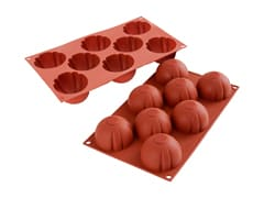 Flexible Silicone Mould - 8 Ridged Domes
