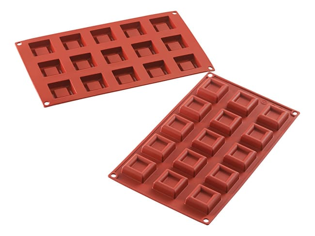 Flexible Silicone Mould - Squares (15 cavities) - Silikomart