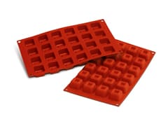 Flexible Silicone Mould - Square Savarins (24 cavities)