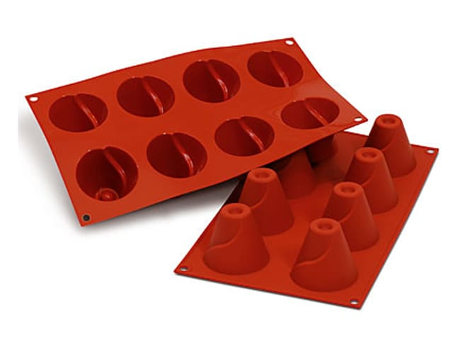Flexible Silicone Mould - Volcano Shapes (8 cavities) - Silikomart