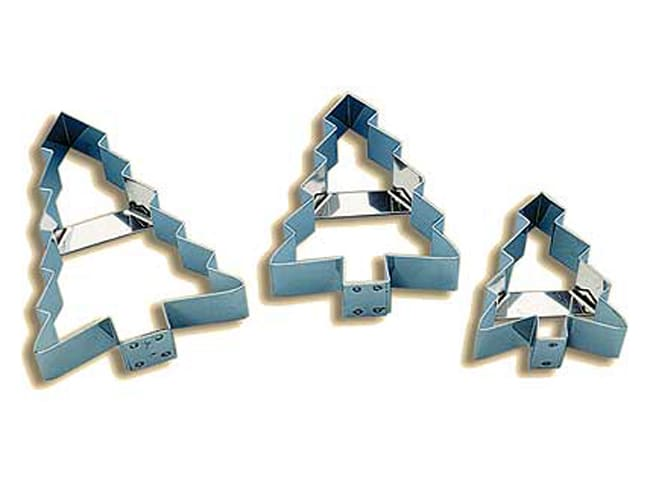 Stainless Steel Cookie Cutter - Christmas Tree - 6.5cm - Mallard Ferrière