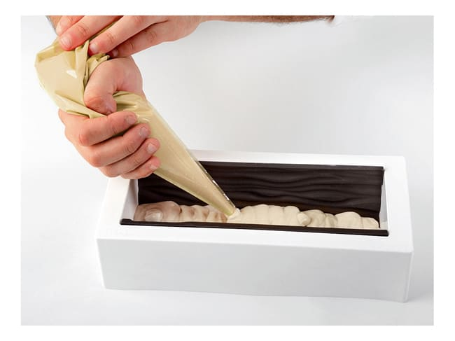 Yule Log Kit with Silicone Mould & Mat - Baroque Pattern - 25 x 9cm - Silikomart