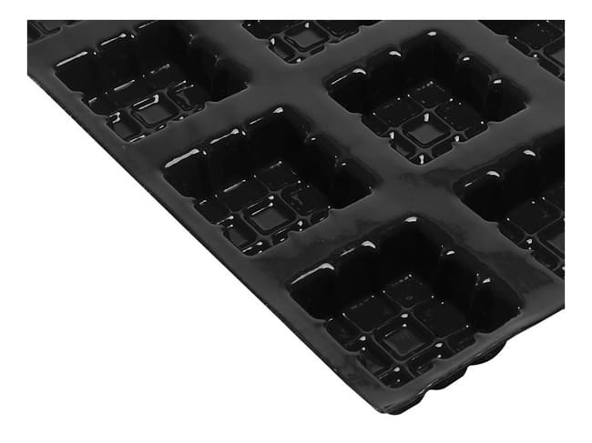 Non-Stick Silicone Mould - 24 Square Tartlets 7 x 7 x 3cm - 60 x 40cm - Flexipan