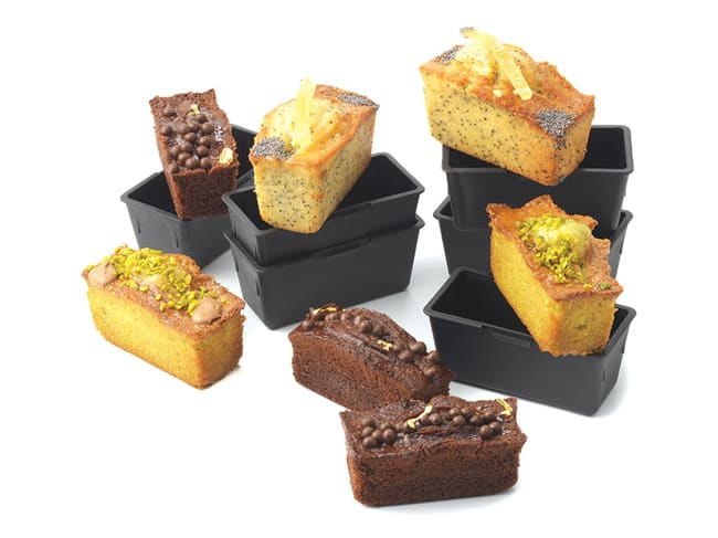 Loaf Cake Moulds 9 x 4cm (x 6) - Exoglass® - Matfer