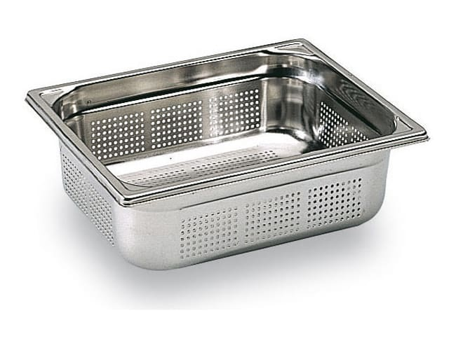 Perforated gastronorm container - Depth 10cm - Matfer