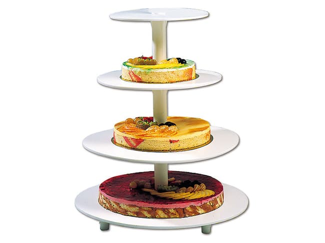 Round wedding cake stand - 4 tiers