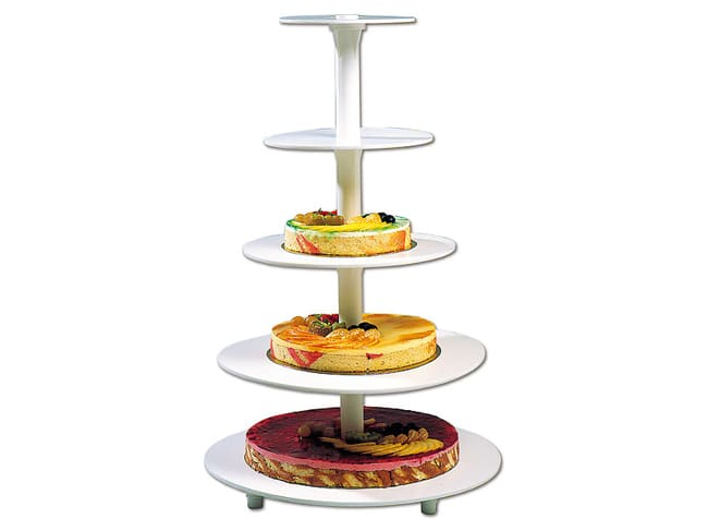 Round wedding cake stand - 5 tiers