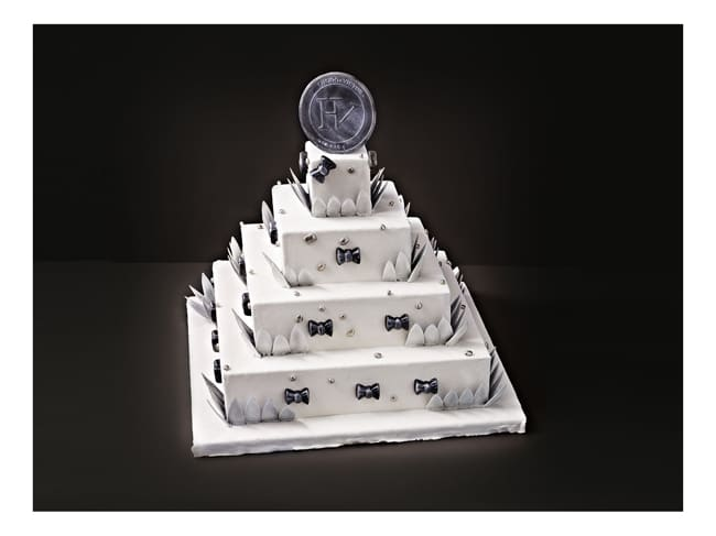 Square Wedding Cake Kit - 5 tiers - Matfer