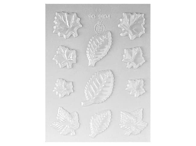 Chocolate Mould - 11 Assorted Leaf Shapes - Martellato