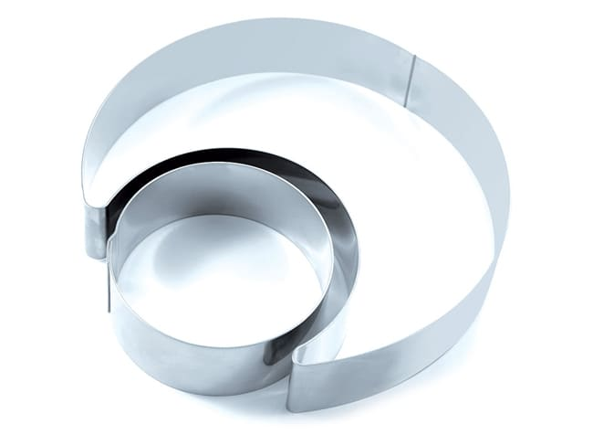 Stainless Steel Duo Mousse Ring - Moon Ø 20cm - Martellato