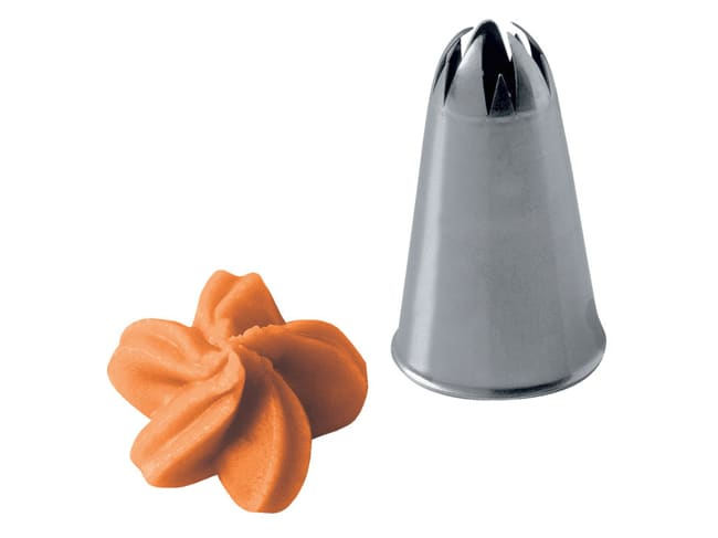 Stainless Steel Piping Nozzle - Flower - Martellato