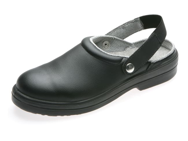 Silvo Black Catering Safety Clogs - Size 37 - NORD'WAYS