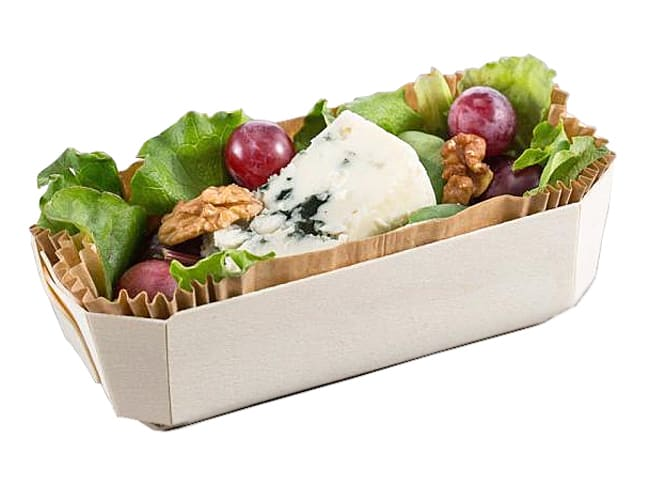 Wooden Baking Tray Archiduc - 24 x 11,5 x ht 7cm - Pack of 100 trays - Panibois