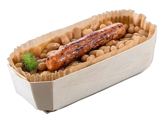 Wooden Baking Tray Baronnet - 17,5 x 5 x ht 5cm - Pack of 10 trays - Panibois