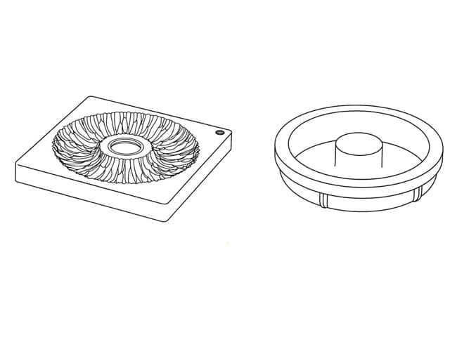 Corolla Silicone Mould Kit - 2 Pieces - Pavoni
