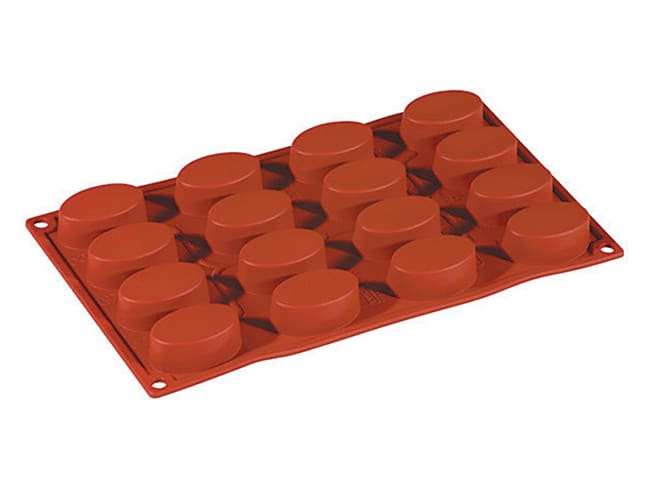 Formaflex Silicone Mould - 16 Oval Shapes - 30 x 17cm - Pavoni