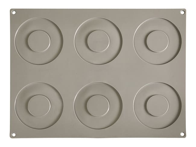 Pavoni Gourmand Silicone Mould - 6 Large Rings - Pavoni