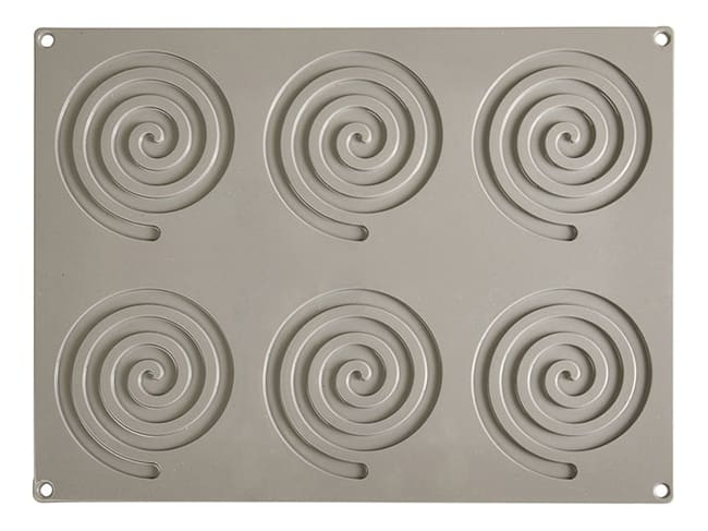 Pavoni Gourmand Silicone Mould - 6 Round Spirals - Pavoni