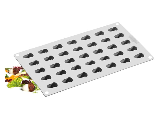 Acorn Silicone Mould Mat - 35 Cavities - 30 x 17.5cm - Pavoni