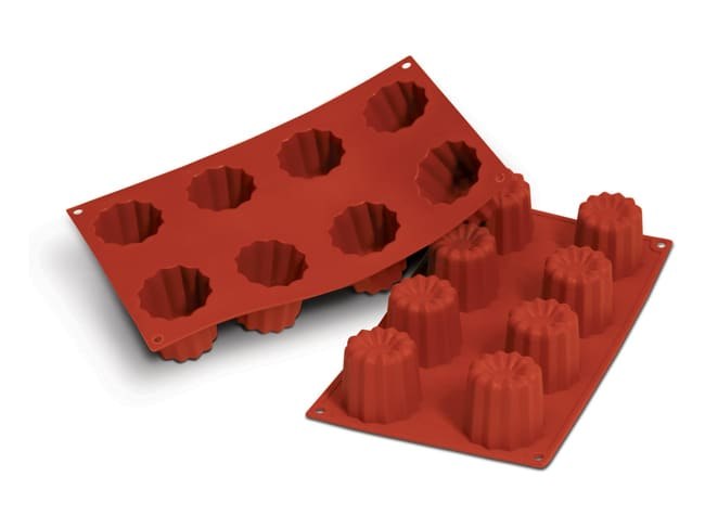Flexible Silicone Mould - Cannelés (8 cavities) - Pavoni