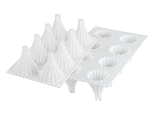 8 Cone Christmas Tree Silicone Mould - 30 x 17.5cm - Silikomart