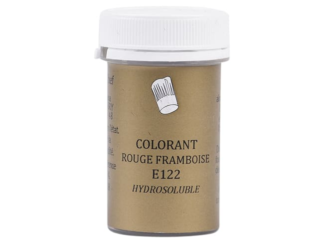 Colorant alimentaire en poudre rouge framboise - hydrosoluble - 10 g - Selectarôme