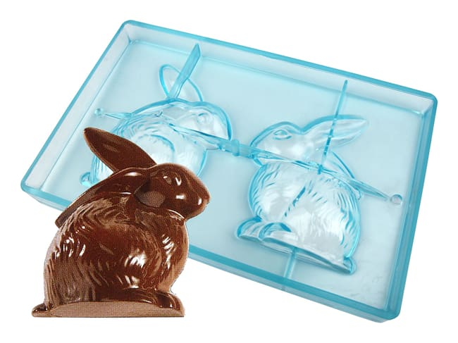 Moule chocolat - lapin assis