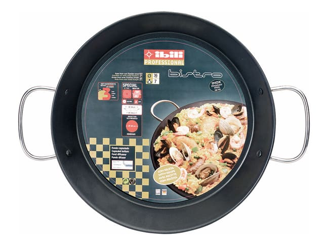Plat à paella en inox - compatible induction - Ø 32 cm - Ibili